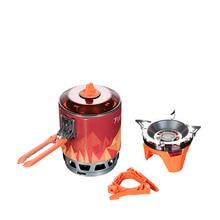 Système de cuisson à mesure du feu, Camping de plein air, randonnée, four, Portable, meilleure poêle à gaz au Propane, Pot de 0,8l