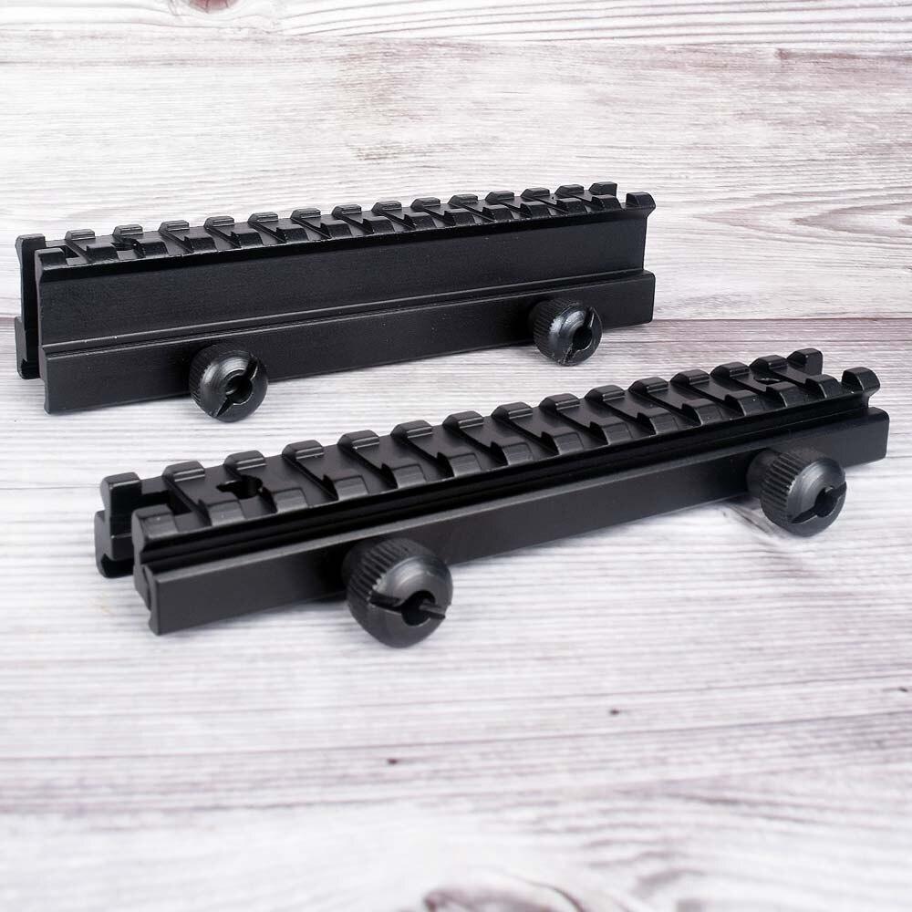 Средний профиль AR Riser Base QD Scope Mount 20 мм Rail с 13 слотами Weaver-Picatinny Rail охотничий аксессуар для тактического страйкбола
