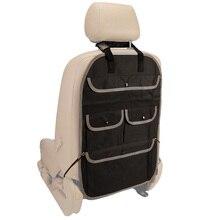 Assento traseiro do carro organizador capa de volta caixa de armazenamento de alimentos saco recipiente net tronco kick esteira organizador kit carro-estilo