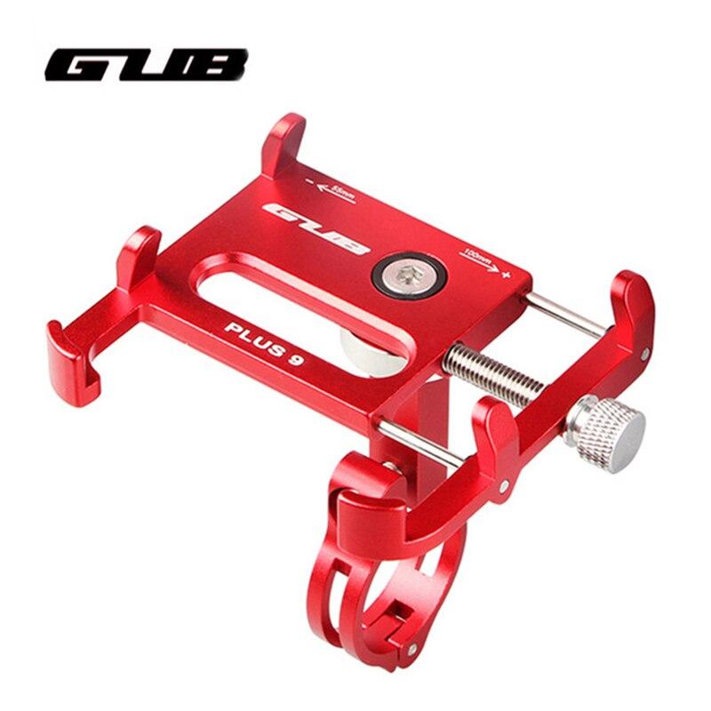 GUB Plus 9 Bike Bicycle Handle Phone Mount Holder Support Case Motorcycle Handlebar For 3.5-6.2