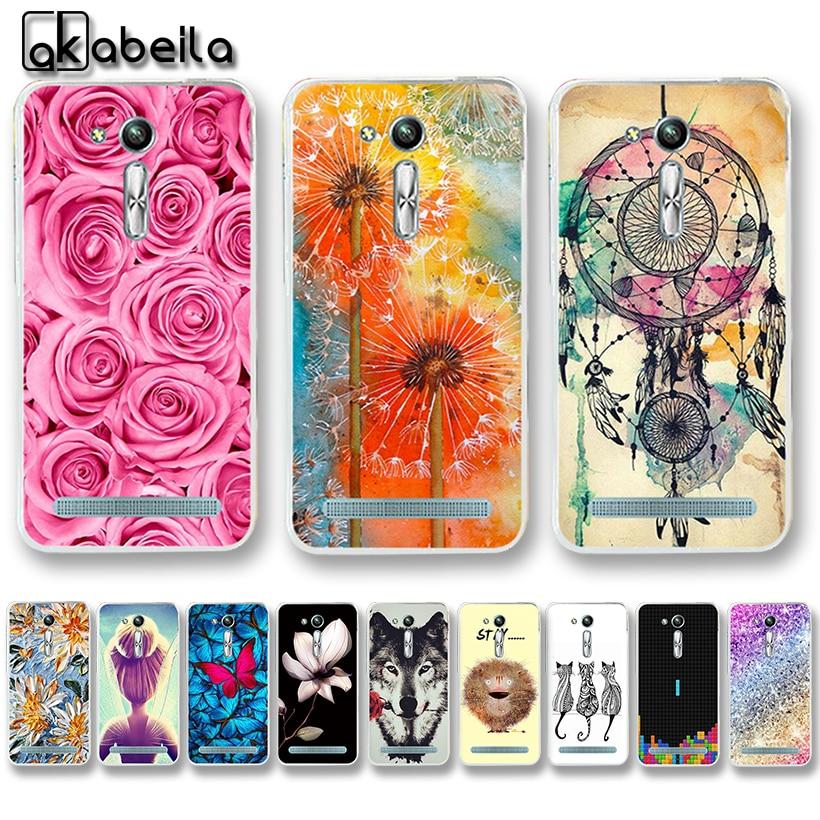 AKABEILA мягкие чехлы для телефонов из ТПУ для Asus Zenfone GO 2nd Gen ZB452KG ASUS_X014D ZB450KL 4,5 дюйма Чехол для Nutella Flamingo сумка