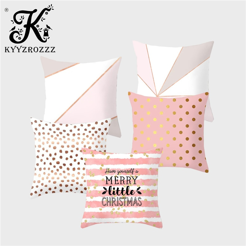 KYYZROZZZ, funda de cojín geométrica Bohemia con texto a rayas, estampado de poliéster, decoración de sofá de casa, funda de almohada, almohadas, 45x45CM