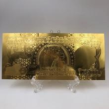 Monnaie en papier irakien Souvenir plastique   25000 Dinar en or plaqué argent, Collections de billets de banque avec support, 1 pièce