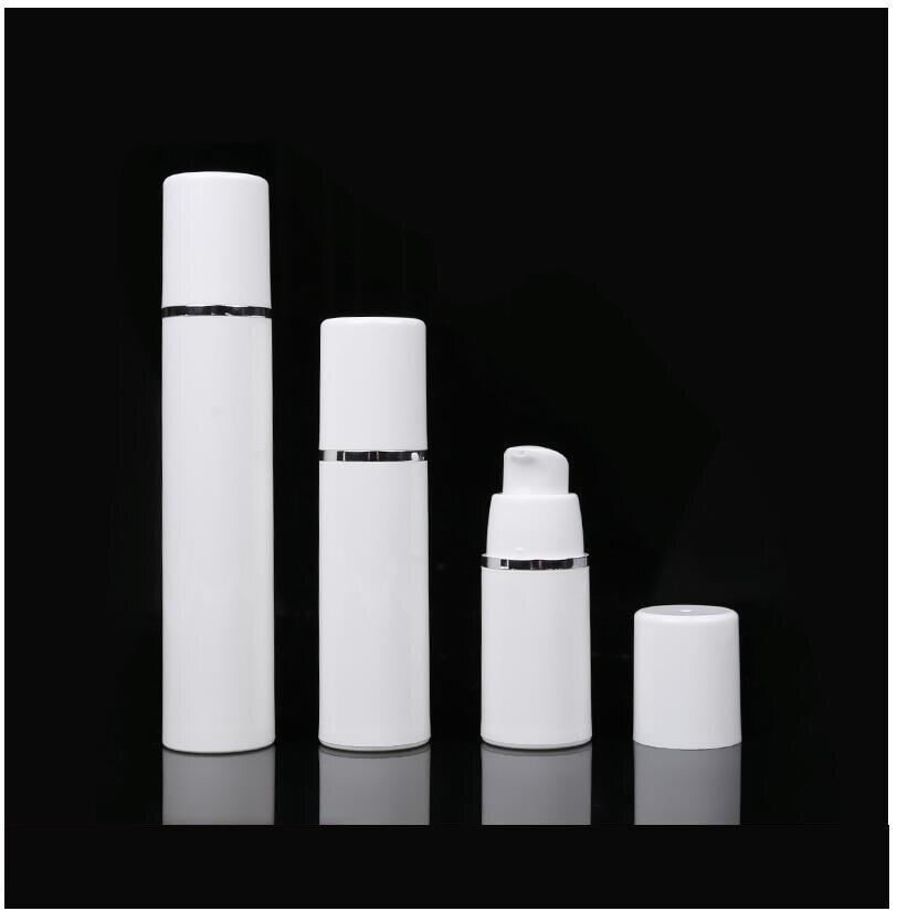 30 مللي الأبيض الرش مضخة تفريغ غسول زجاجة مع الفضة خط العين مستخلصات السائل الأساس معقدة مجمع الشفاء حزمة