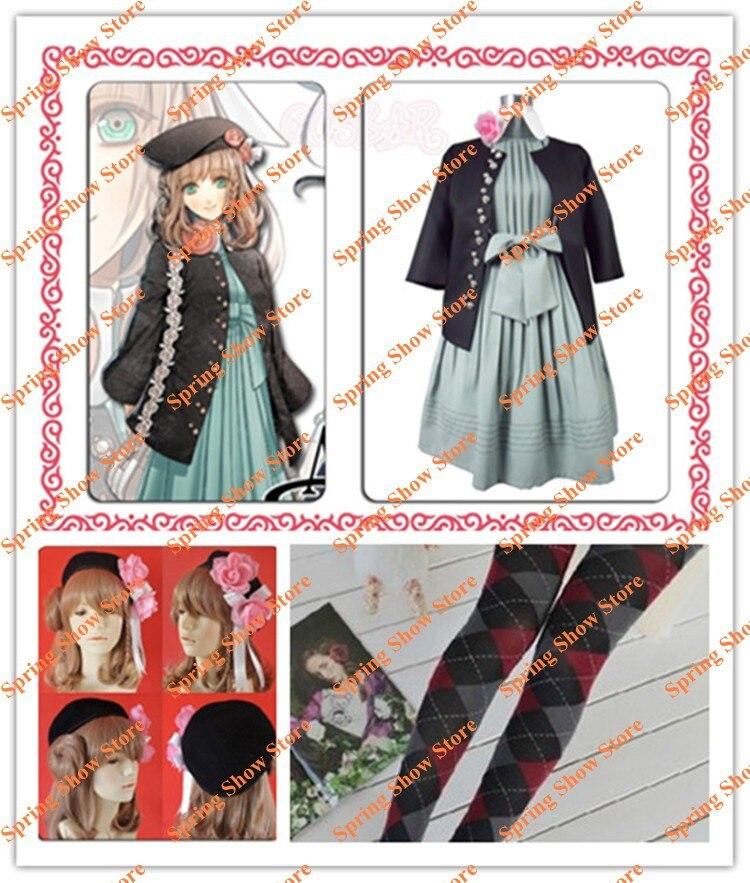Disfraz de Cosplay de AMNESIA heroína, de alta calidad, hecho a medida, uniforme, edición Original con peluca