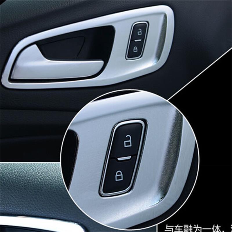 Para FORD 2013 2014 2015 ESCAPE KUGA ABS cromo INTERIOR manija de la puerta cubierta TRIM INNER BOWL Car-Styling Accesorios