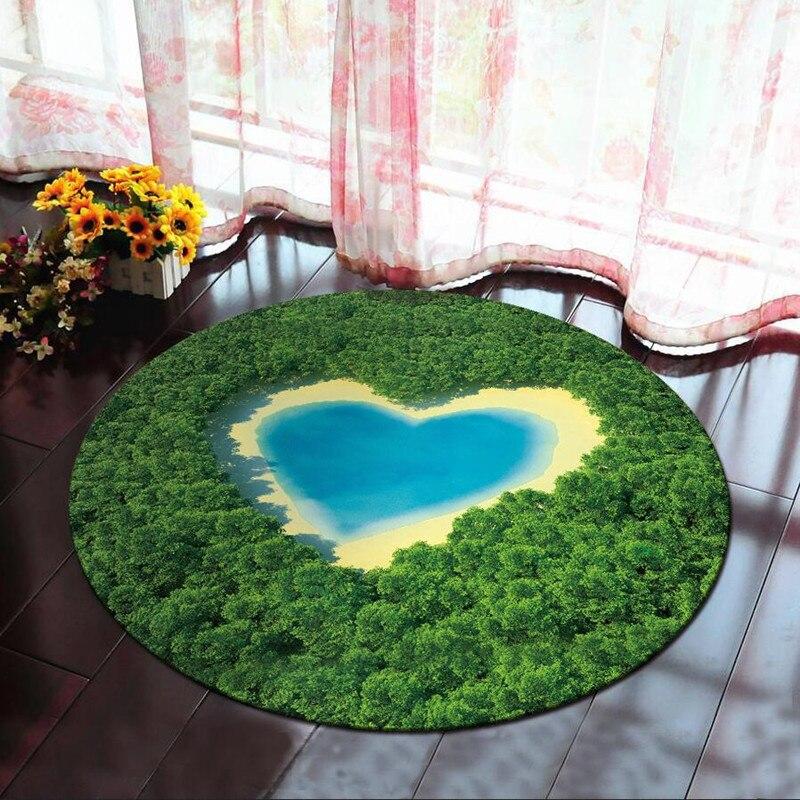 Soft Bath Carpet Round Anti -slip Floor Matter 3d Moon Printed Bad Carpet Matter For Decor Toilet Carpets Walled Toilet Carpet