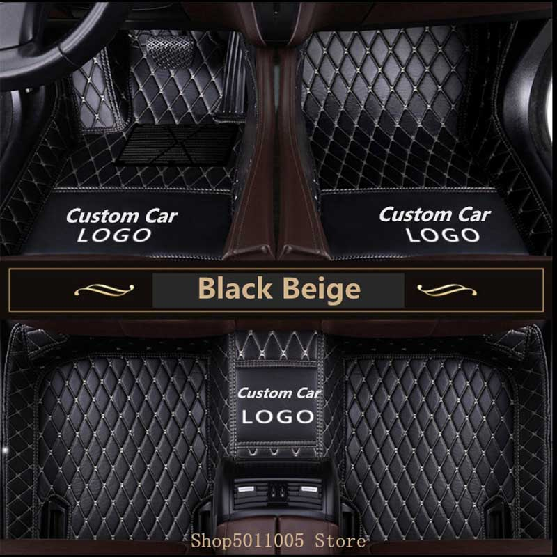 Logo3D tapis de sol en cuir personnalisés   Pour TOYOTA BMW BENZ Mazda 4 Ford Hyundai land cruiser Skoda Nissa