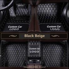 Personalizado logo3d esteiras do pé carro tapetes de couro para toyota bmw benz mazda CX-5 3 ford hyundai land cruiser skoda nissa