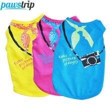 Cute Pet Dog Shirt Summer Puppy Clothes Small Dog Vest Pomeranian Shih tzu Clothing Cute Cat Vest Pet Shirts For Dogs XS-L