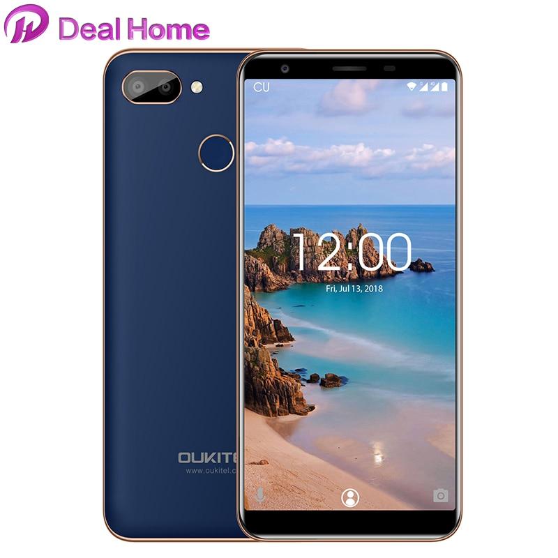 "OUKITEL C11 Pro Mobile Phone 5.5 ""189 MTK6739 Quad Core 3G RAM 16G ROM 8MP + 2MP/2MP 4 Impressão Digital Android 8.1G LTE Smartphones"