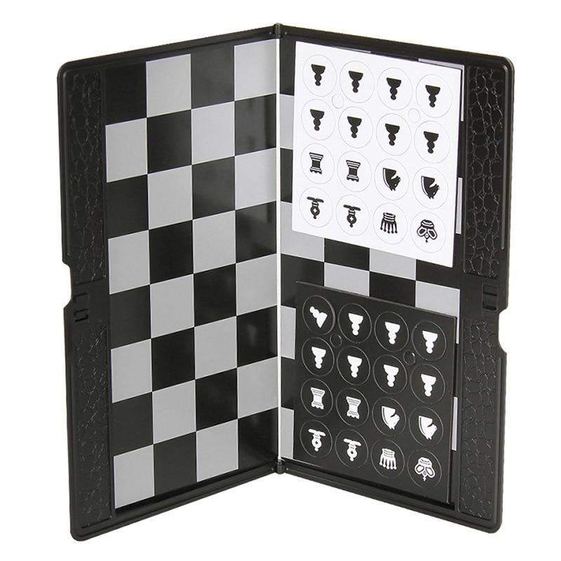Качественный супертонкий игровой кошелек, магнитный, международные шашки и шахматные часы, портативный складной Шахматный набор для подро...