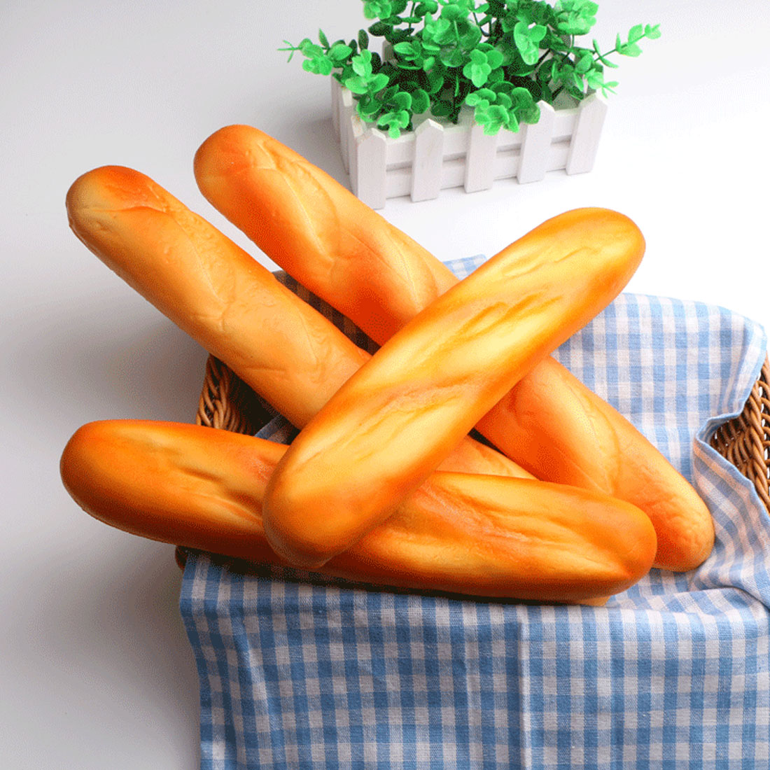 Etmakit de alta calidad Diseño de barra de pan francés Kawaii Squishy aumento correas del teléfono lindo estrés niños regalo almohada pan pastel pan de juguete