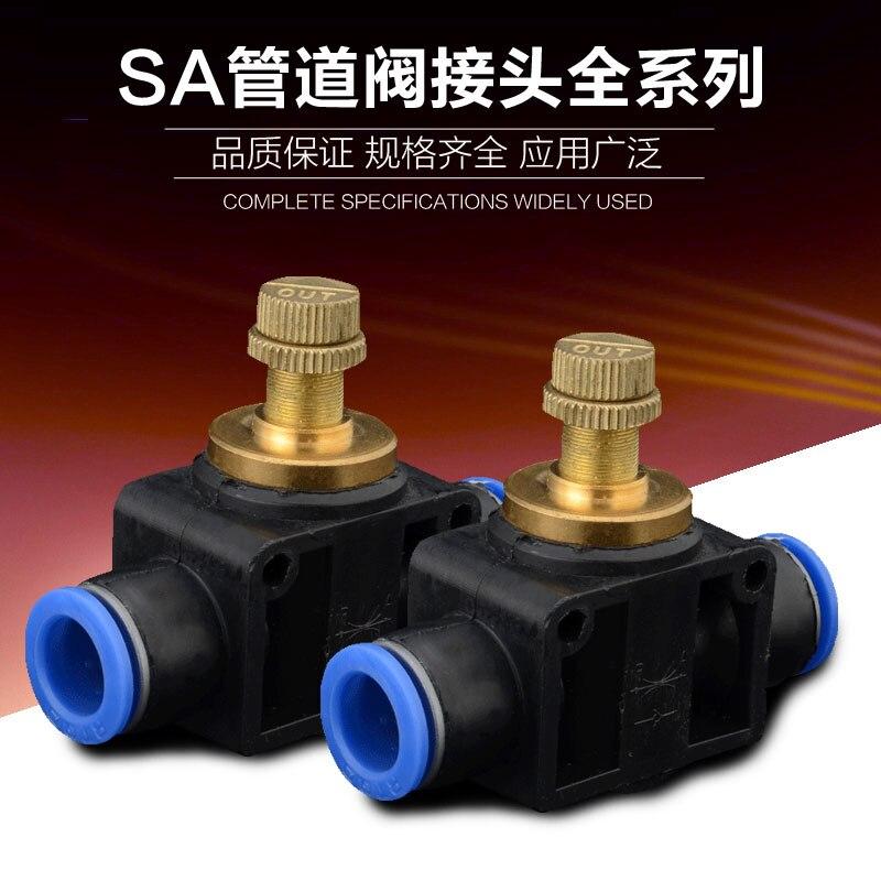 Componentes neumáticos de alta calidad SA4 conector rápido serie SA6 válvula para tubería SA8 venta al por mayor especial SA10/12