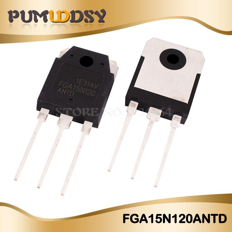2PCS FGA15N120ANTD TO3P FGA15N120 15N120 IGBT transistor 1200V del TNP Trench original nuevo envío gratuito IC