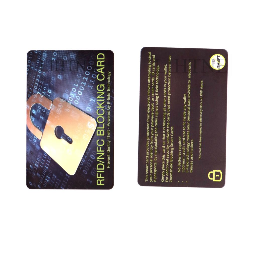 New style Anti Theft Credit Card Shield Rfid Protector Shield PVC Card Prevent Unauthorized Scanning Not Card Sleeve