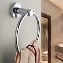 Soporte de toalla de baño de acero inoxidable 304, anillo de toalla de mano, colgador de toalla, accesorios de baño, acabado pulido