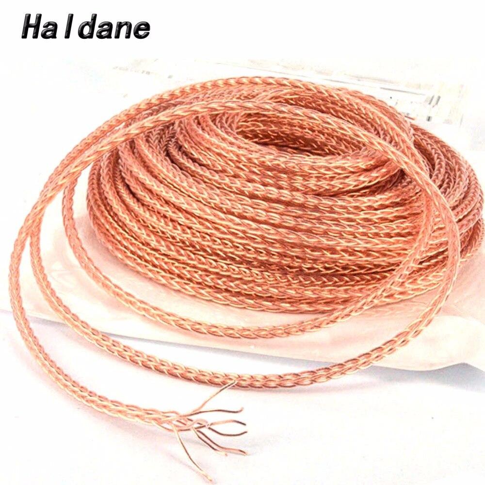 Envío Gratis Haldane 8 núcleos 7N OCC Cable de alambre de cobre y cristal para DIY Audio auriculares Cable de actualización