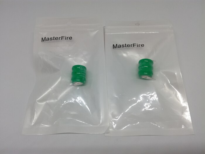 25 unids/lote MasterFire 3,6 V 80mAh NI-MH batería recargable botón nimh pila de moneda baterías paquete PLC control en la batería