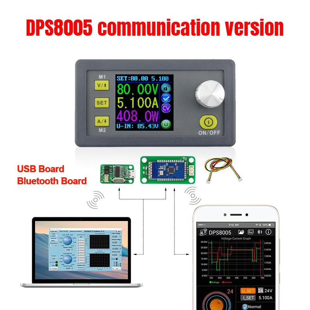 DPS8005 80V voltaje constante 5A módulo de fuente de alimentación programable reductor amperímetro voltímetro buck regulador convertir 30%