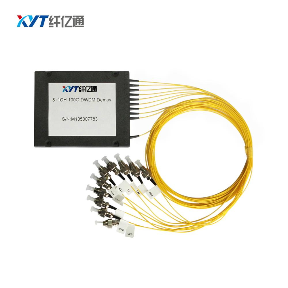 China supplier ABS box type dwdm mux demux fiber 100Ghz 12channel DWDM module C21-C60 channel