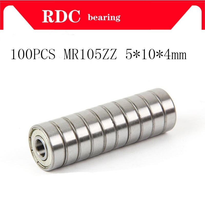100PcsABEC-5 MR105ZZ MR105Z MR105 ZZ L-1050 5*10*4 5x10x4 مللي متر المعادن ختم محمية مصغرة عالية الجودة الكرة أخدود عميق تحمل