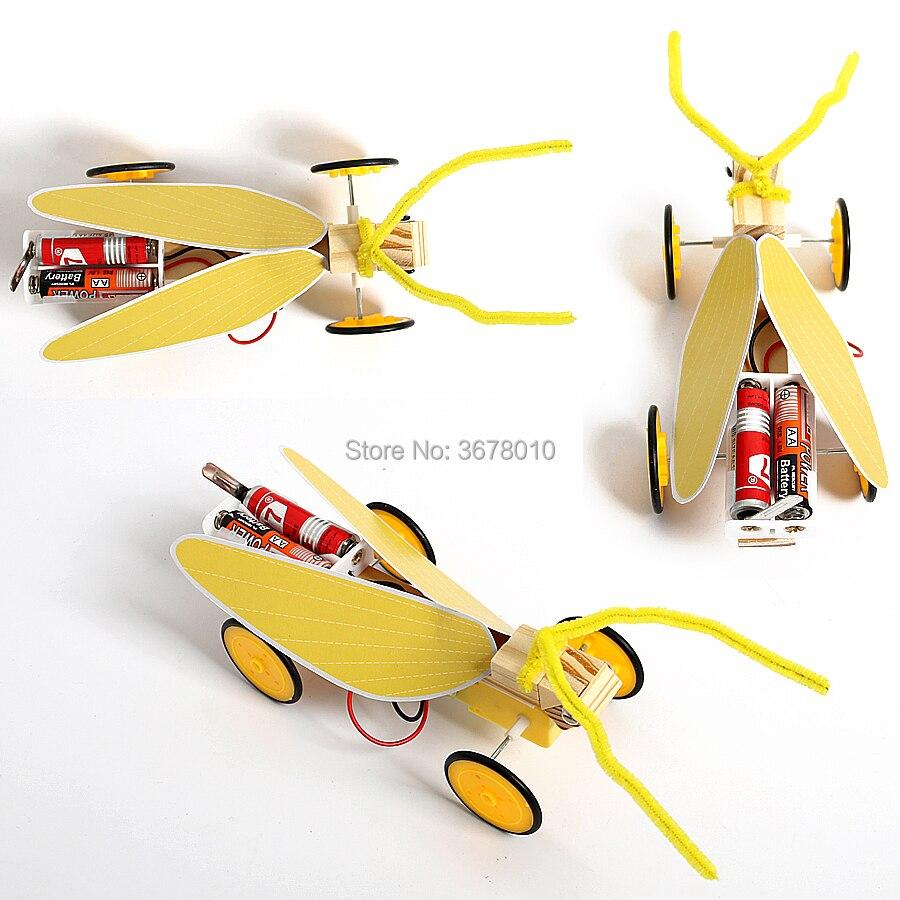 Классный деревянный Электрический Кузнечик, набор моделей, сделай сам, саранча, Наука и технологии, сборка, эксперимент, развивающие игрушк...