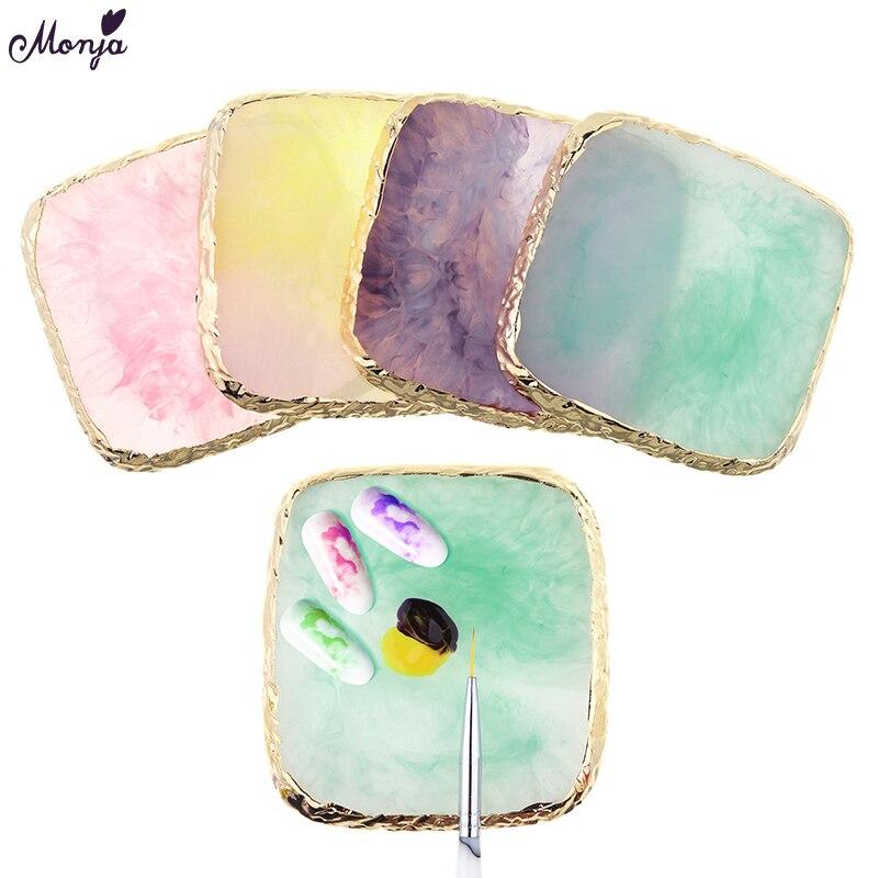 Monja-pinceles para manicura de uñas, en Gel acrílico UV, para decoración de uñas con acabado de resina
