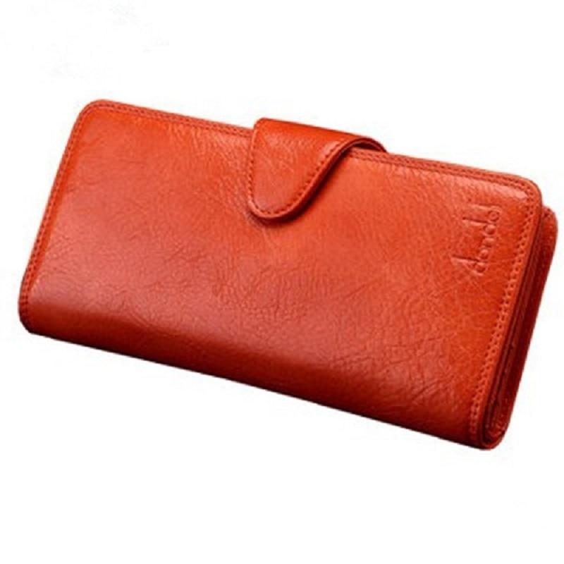 2018 nova venda quente dinheiro clipe carteira feminina genuíno carteira de couro sólido alta qualidade moda carteira, transporte da gota