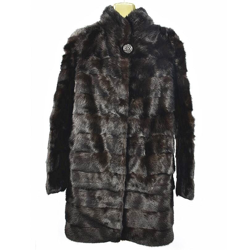 2020 ladies new natural mink fur yellow wolf fur long coat real fur winter warm fashion European jacket