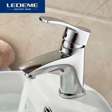 LEDEME bassin robinet courbe poignée courbe design laiton navire robinet salle de bain robinet Chrome moderne cascade robinets L1064