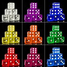 10Pcs 16mm 입방 투명 다채로운 절묘한 주사위 수집 장식 게임 주사위 고품질 오지 #16