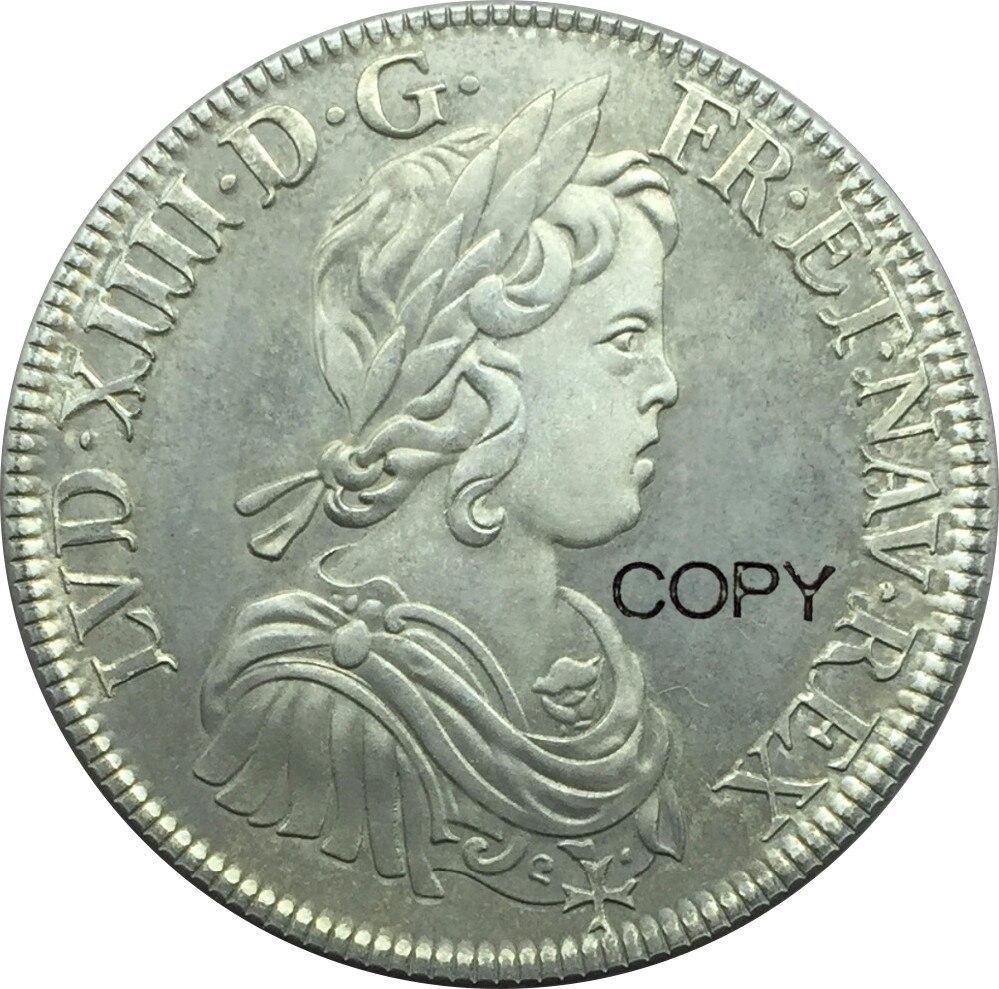 França luís xiv 1 ecu 1643 a 90% moedas de prata