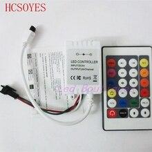 Cc 5V/12V 24 clé IR led de contrôle rgb à distance 5V 2812B /12V WS2811 bande led 200 changement Max 1000 Pixel rvb LED de contrôle