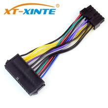 15cm câble dalimentation cordon 18AWG fil ATX 24 broches à 14 broches câble adaptateur pour Lenovo IBM Dell Q77 B75 A75 Q75 carte mère