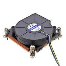 Serveur refroidisseur de processeur ventilateur de refroidissement cuivre dissipateur thermique pour Intel Xeon LGA 1155 1156 1150 1151 poste de travail ordinateur industriel refroidissement