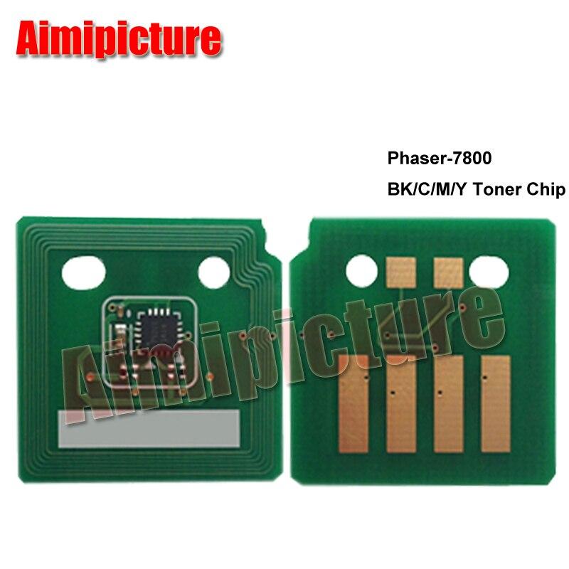 Para Xerox 7800 Phaser-7800 Toner Chip 106R01569 106R01566 106R01567 106R01568 BK C M Y Toner Chip 1 Juego de 4 piezas envío Gratis