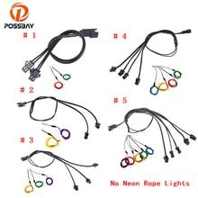 POSSBAY-câble séparateur à 2/3/4/5 voies   Connecteur de bande de lumière au néon à câble EL