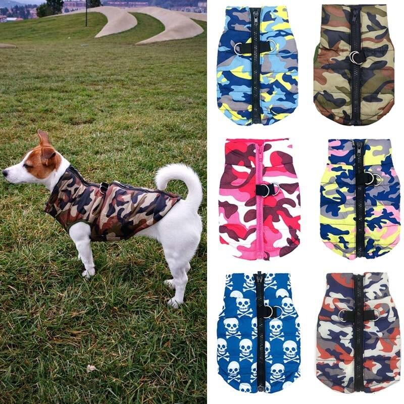 Chaqueta para perro impermeable ropa de invierno para cachorros diseño de camuflaje chaqueta de perro pequeño Chihuahua Yorkie ropa petshop ropa para perro XS-L