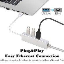 3 Ports USB 3.0 Gigabit Ethernet Lan RJ45 adaptateur réseau Hub à 1000Mbps pour PC portable TV TV TV Box tablette Smartphone