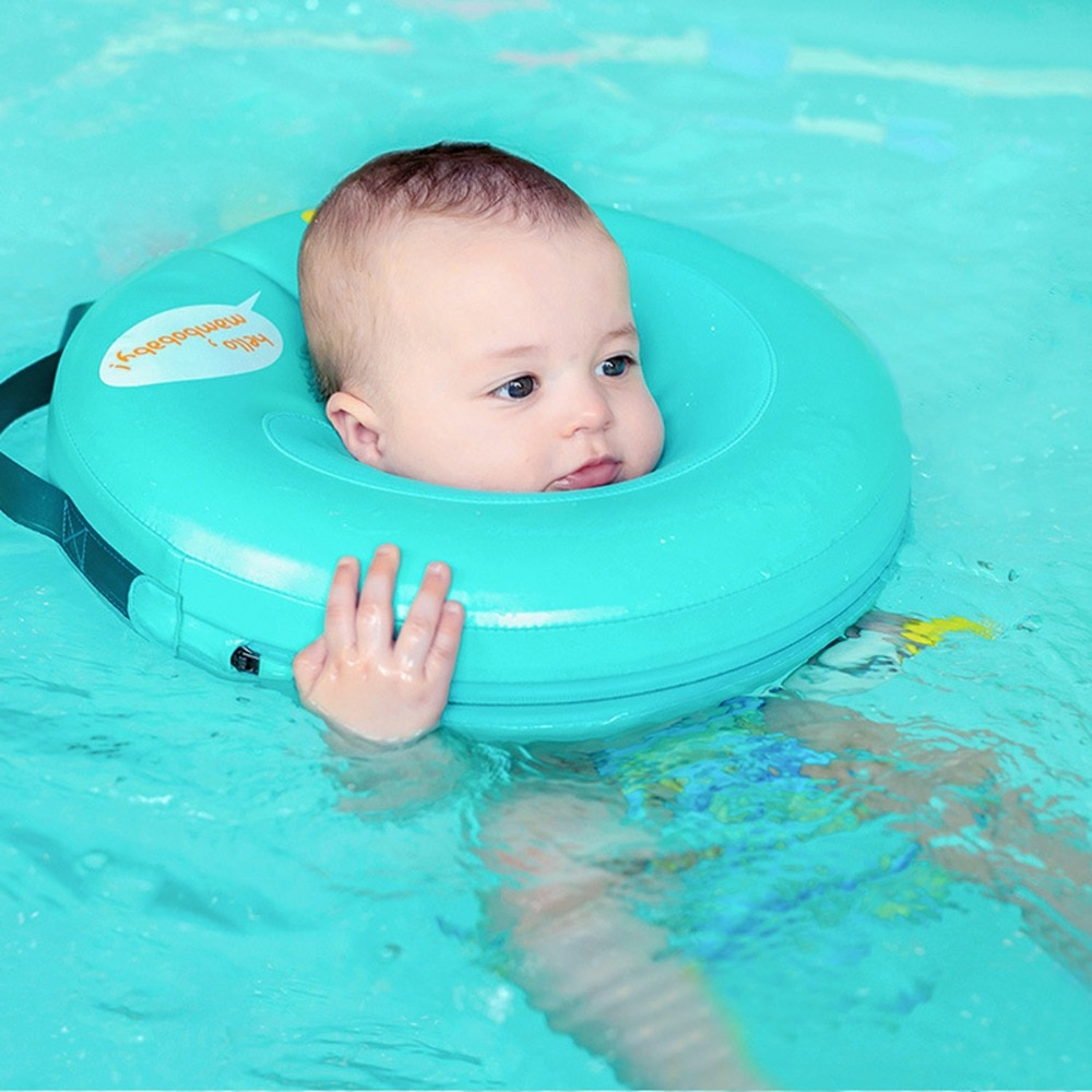 Anillo flotante no inflable de seguridad, círculo redondo, cuello, entrenador de nado, no necesita bomba de aire, accesorios de baño para bebés, conformación de natación