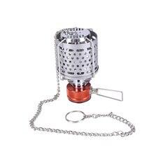 BULin Portable léger lanterne à gaz utile lampe pour Camping en plein air randonnée pliable pique-nique gaz pour Camping Mini réchaud en acier