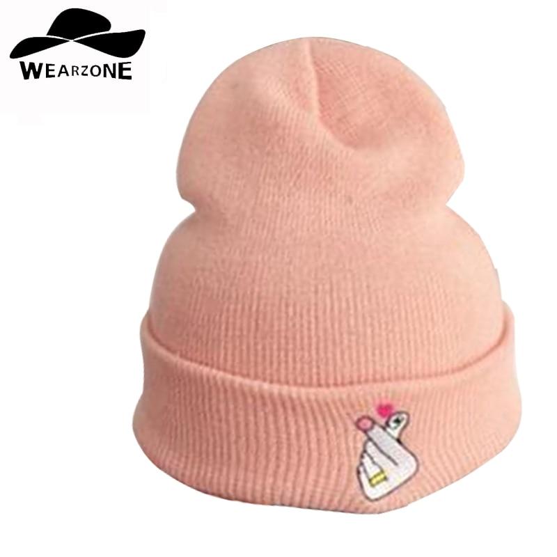 MIAR Cap Homens da moda Casuais Hop Chapéus de Lã de Malha Skullies Chapéu do Beanie Chapéu Morno do Inverno para As Mulheres padrão de bordado 2016 nova