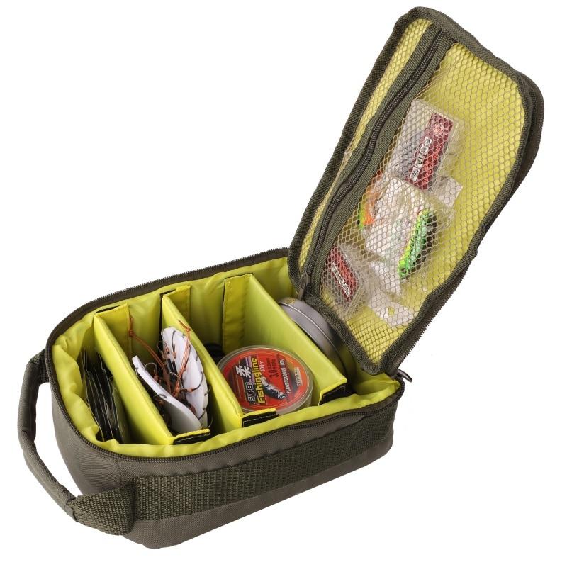 Bolsa Oxford 600D para actividades al aire libre, bolsa de pesca multifuncional, Sedal, carrete, señuelo, gancho, bolso de almacenamiento, aparejos de pesca, bolsa de pescado