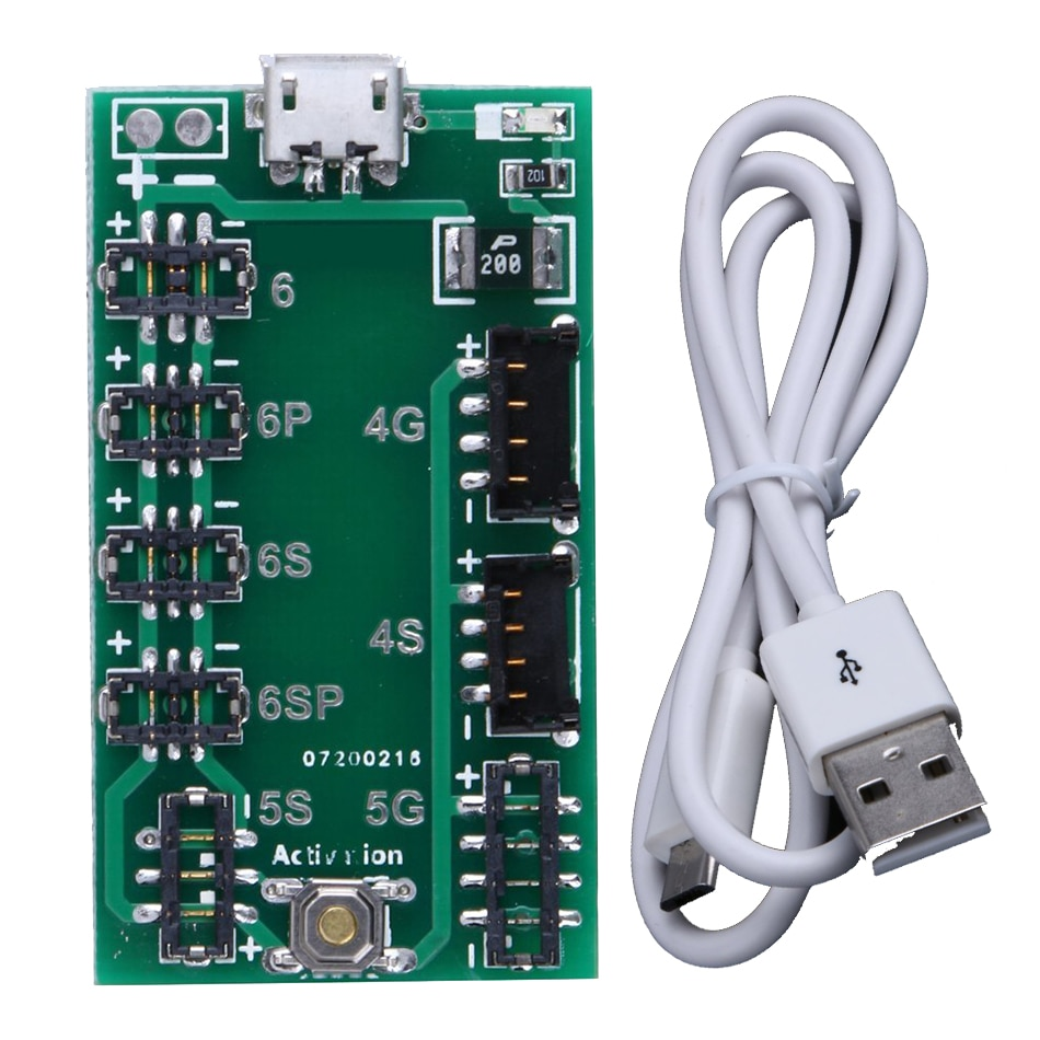 Suministro de teléfono placa del cargador de batería Placa de activación de carga Panel para iPhone 4-6P con Cable USB