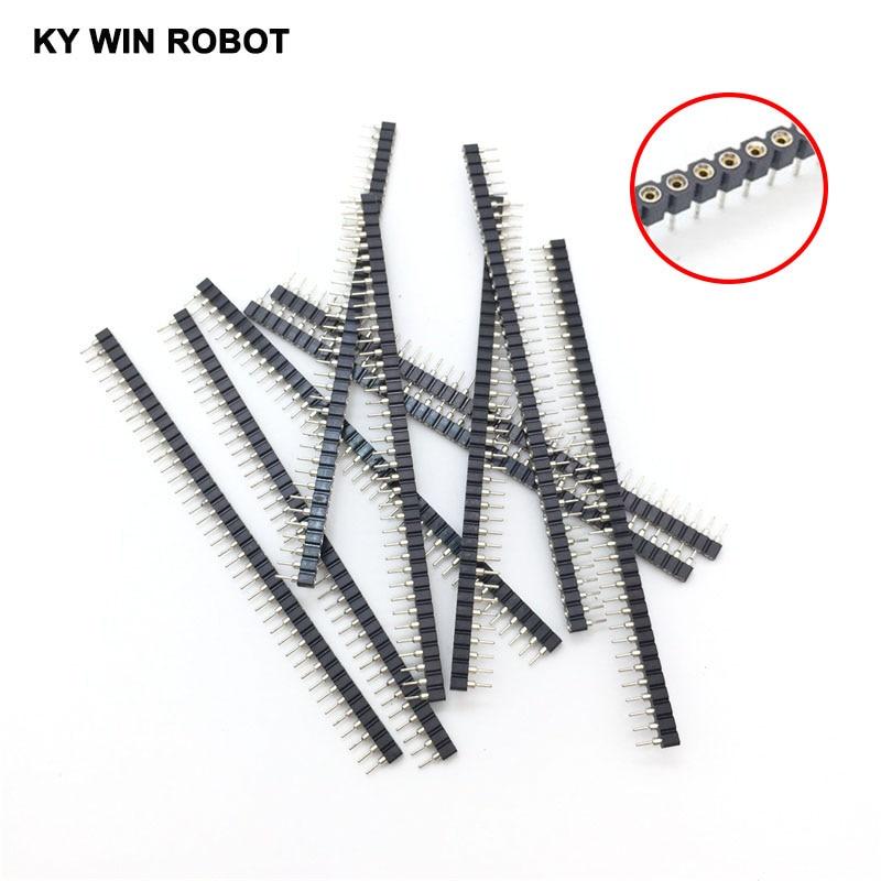 10PCS/LOT 1x40 Pin 2.54mm Single Row 40 Pin Round Female Pin Header Connector Free shipping