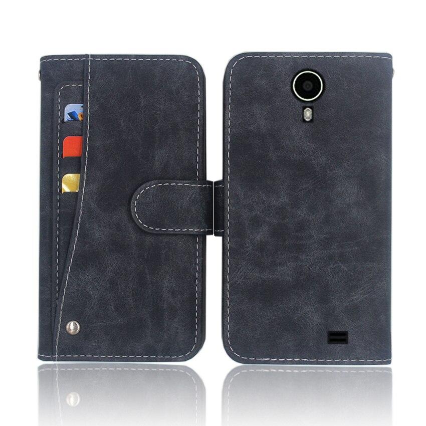 ¡Caliente! Tele2 Midi LTE 4,5 de alta calidad de cuero cubierta de la bolsa teléfono caso para Tele2 Midi LTE 4,5 con diapositiva ranura para tarjeta