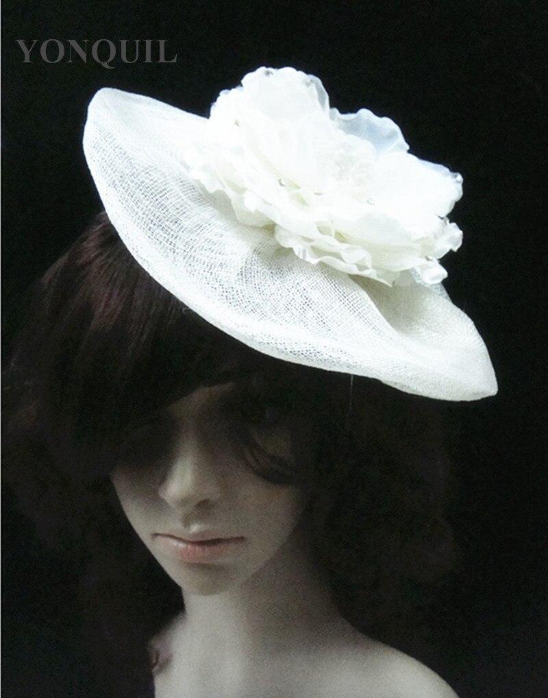 Silk flowers sinamy derby fascinator hats wedding party headwear elegant lady women millinery hats bridal hair accessories FS69