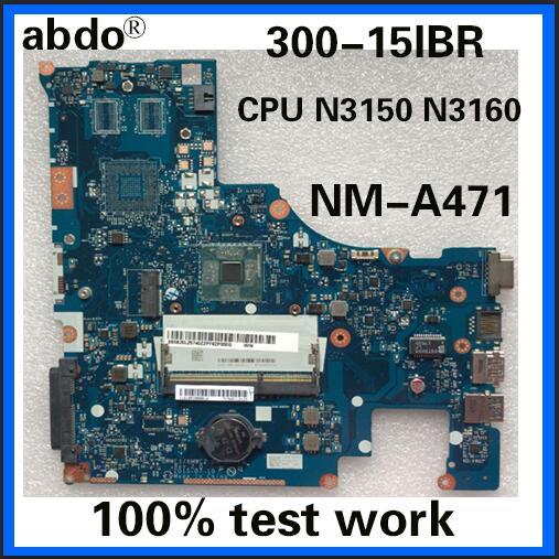 Abdo BMWC1/BMWC2 NM-A471 материнская плата для Lenovo 300-15IBR ноутбук материнская плата CPU N3150/N3160 DDR3 100% тестовая работа