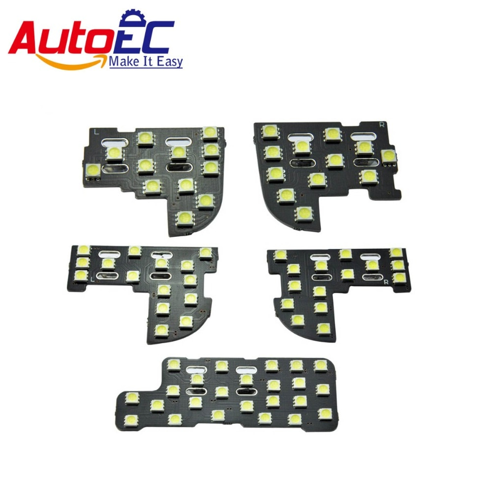 AutoEC 5 unids/set ajuste perfecto para Honda Odyssey kits de luz led interior de coche de lectura del Panel de luz del maletero especial del coche LED